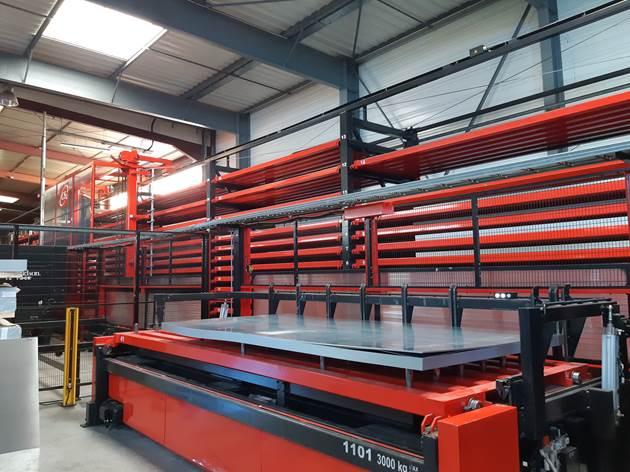 Financement gràce à DW conseil d'un stoqueur automatisé tôlerie industrielle Chaudira Vaulx en Velin