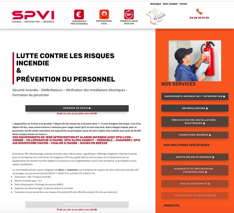 creation site web SPVI villefranche sur Saone