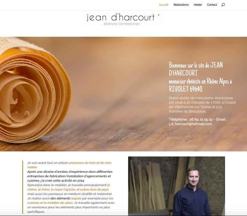 creation site web jean d harcourt proche villefranche
